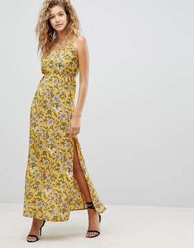 AX Paris Floral Column Dress With Split