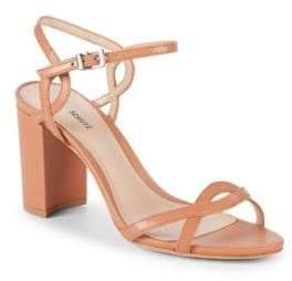 Schutz Scarlett Leather Ankle-Strap Sandals