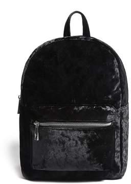 FOREVER 21 Crushed Velvet Backpack