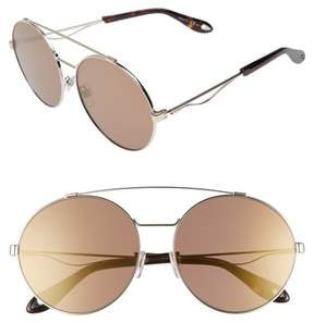 Women's Givenchy 62Mm Oversize Round Sunglasses - Light Gold