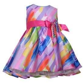 Iris & Ivy Baby Girl's Watercolor Ribbon Dress