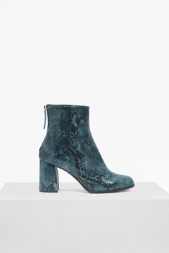French Connection Saffi Snake Skin Leather Ankle Boots