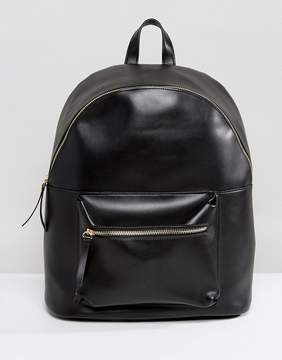 Pieces Leather Look Back Pack