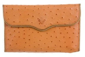 Rebecca Minkoff Leather Zip-Accented Wallet - BROWN - STYLE