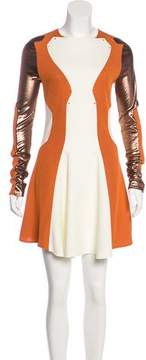 Esteban Cortazar Embellished Colorblock Dress