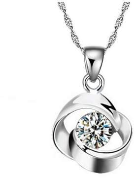 Alpha A A Designer Inspired Intertwined Circles With Centred CZ