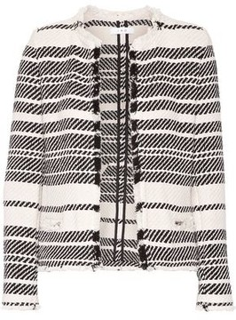 IRO Zlata Striped Cotton-Blend Tweed Jacket