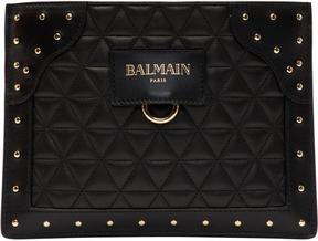 Balmain Black Nano Domaine Glove Pouch