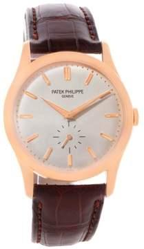 Patek Philippe Calatrava 5196R 18K Rose Gold & Silver Dial 37mm Mens Watch