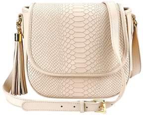 GiGi New York Women's Kelly Embossed Tassel Saddle Bag