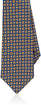 Kiton Men's Medallion-Pattern Silk Necktie