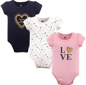 Hudson Baby Pink 'Love' Bodysuit Set - Infant