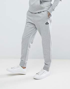 Penfield Hopedale Logo Tapered Cuffed Joggers in Gray Marl