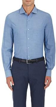 Loro Piana Men's Cotton-Cashmere Chambray Button-Down Shirt