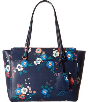 Tory Burch Parker Floral Small Tote Tote Handbags - PANSY BOUQUET - STYLE