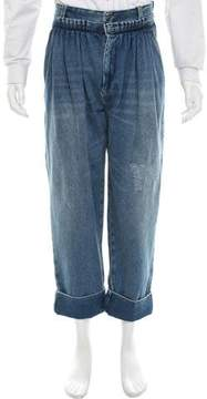 J.W.Anderson Distressed Cropped Jeans
