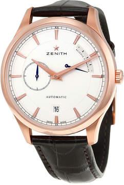Zenith Captain Power Reserve Silver Dial 18kt Rose Gold Men's Watch 18212168501C498