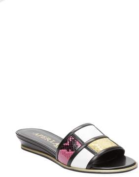 Aperlaï Women's Colorblock Slide Sandal
