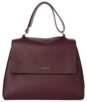 Orciani Medium Sveva Soft Leather Top Handle Satchel - Purple