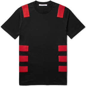 Givenchy Cuban-Fit Panelled Cotton-Jersey T-Shirt