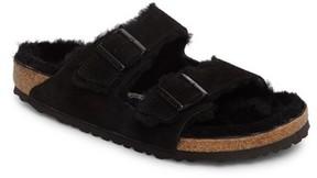 Birkenstock Men's Arizona Slide Sandal With Genuine Shearling