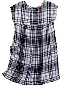 Joe Fresh Plaid Pocket Dress (Toddler & Little Girls)