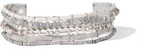 Chan Luu Silver-tone Multi-stone Wrap Bracelet
