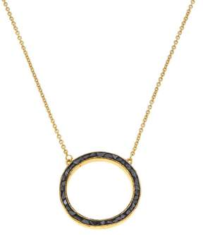 Black Diamond Collections by Joya Circle Drop Necklace with Shards