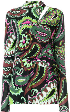Emilio Pucci printed fitted blouse