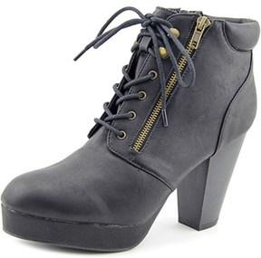 Material Girl Rheta Women Round Toe Synthetic Black Ankle Boot.
