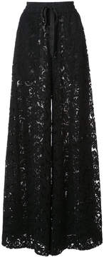 ADAM by Adam Lippes Corded lace wide leg drawstring trousers