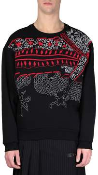 Amen Embroidered Cotton Sweatshirt