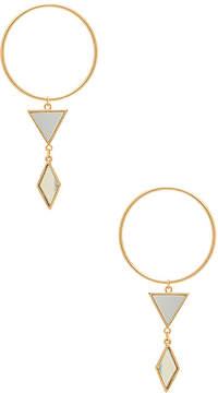 Ettika Gilded Geometry Earrings