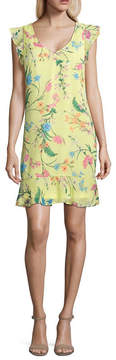 BELLE + SKY Sleeveless Ruffle Floral Dress