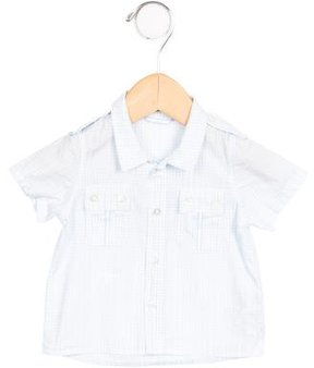 Christian Dior Boys' Plaid Button-Up Shirt