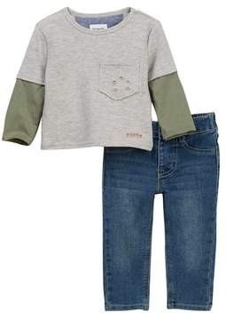 Hudson 2-Piece Reverse French Terry Pullover Set (Baby Boys)