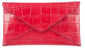 Michael Kors Embossed Leather Clutch - RED - STYLE