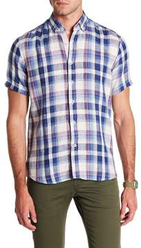 Report Collection Linen Short Sleeve Slim Fit Linen Shirt