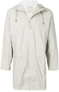 Rains mid-length hooded raincoat