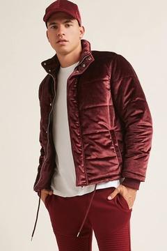 21men 21 MEN Velvet Puffer Jacket
