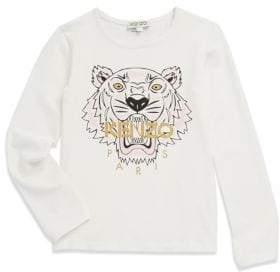 Kenzo Toddler's, Little Girl's & Girl's Printed Long Sleeve Shirt