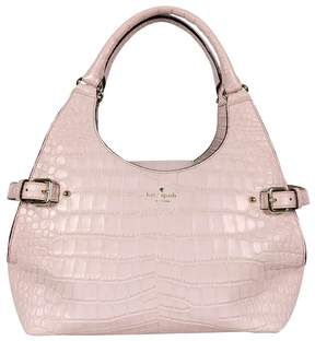 Kate Spade Pink Vanston Croc Leather Dylan Purse