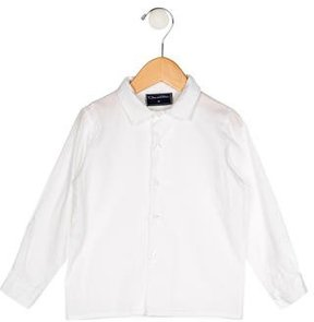 Oscar de la Renta Boys' Long Sleeve Button-Up Shirt