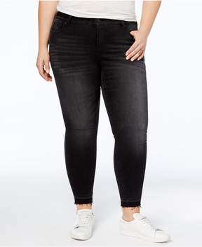 Celebrity Pink Trendy Plus Size Faded Skinny Jeans