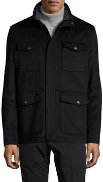 Hart Schaffner Marx Men's Wool Stand Collar Field Jacket