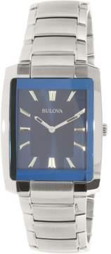 Bulova Classic Collection Silver/Blue Analog Quartz Watch