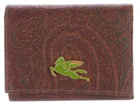 Etro Paisley Compact Wallet