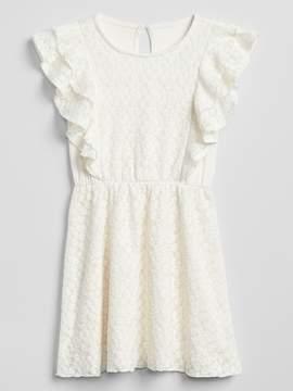 Gap Lace Cascade Ruffle Dress