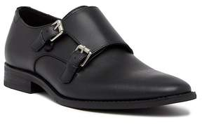 Calvin Klein Robbie Brushed Saffiano Leather Double Monk Strap Loafer