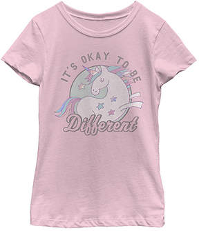 Fifth Sun Pink 'Different' Pony Tee - Girls